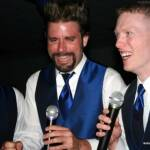 Andrew Piester, Rob Spectre and Kyle Dohm singing