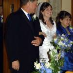 Bride's entrance with parents
